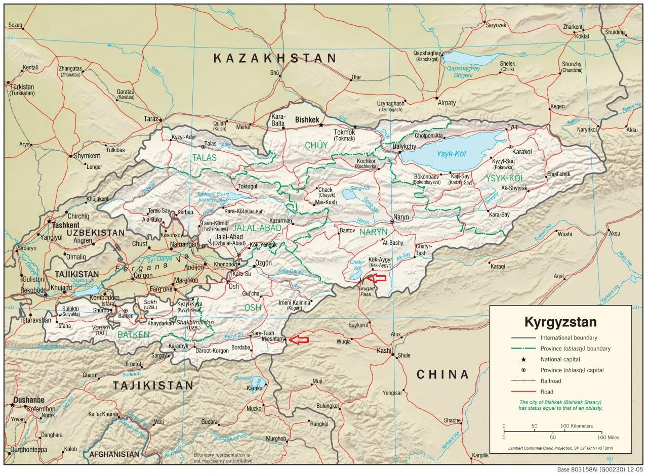 mapa-fizyczna-kirgistanu