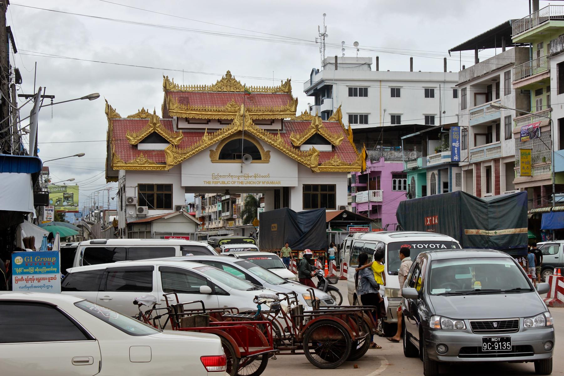 Przejście graniczne od strony Birmy.